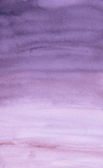 Watercolor violet and white background texture. aquarelle purple brush strokes on paper backdrop.