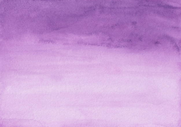 Watercolor violet and white gradient background texture. aquarelle purple brush strokes backdrop. horizontal template.