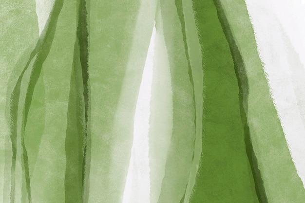 Акварельные обои, фон рабочего стола зеленый абстрактный дизайн