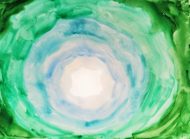 水彩ウェットブラシスミアグリーントーン自然有機コンセプト手描き紙テクスチャステインcolorfu ...