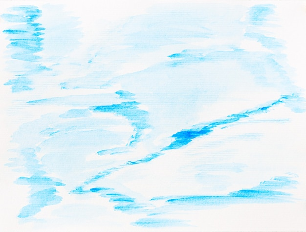 Watercolor white and blue abstract background