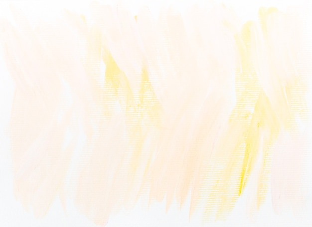 Watercolor white and yellow abstract background