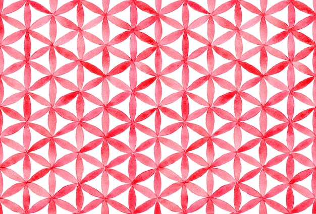Watercolor with geometric pattern
