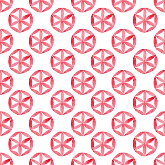Watercolor with geometric seamless pattern