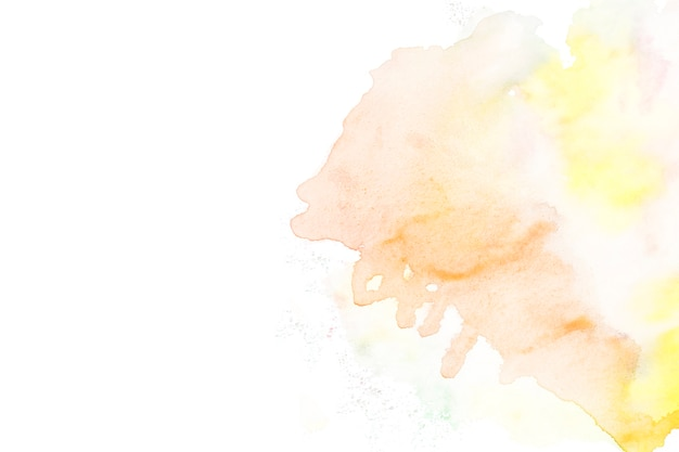 Watercolors on white background