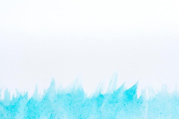 수채화 아트 핸드 페인트 흰색과 파란색 배경