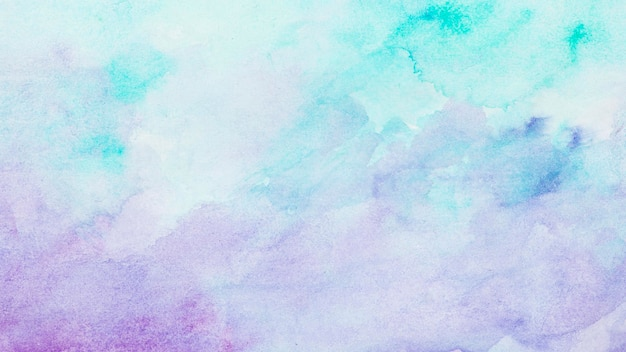Watercolour blue and violet paint abstract background