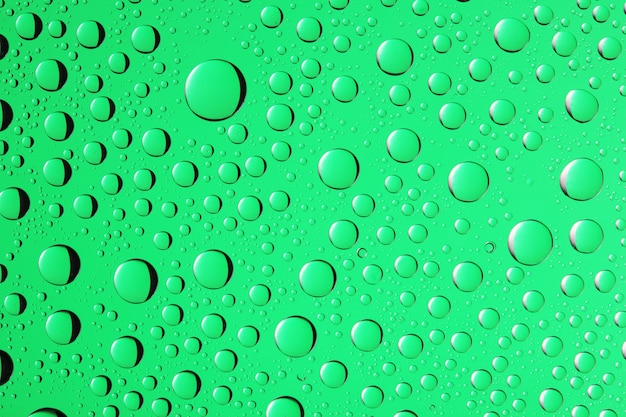 녹색 색상에 물방울 배경