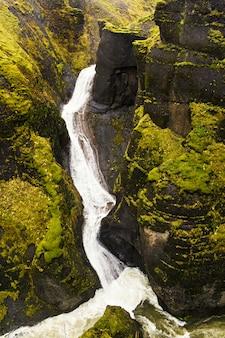 Водопад и река