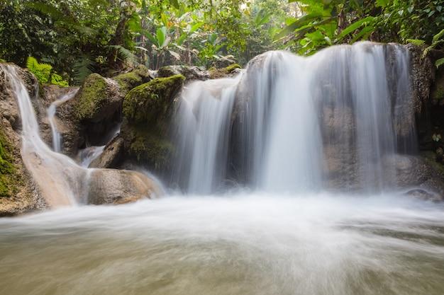 Waterfall background.