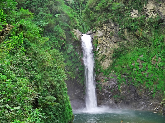 The waterfall in banaue, philippines