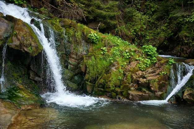 Waterfall in the carpathians