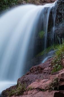 Waterfall chervonograd in ternopil region, ukraine