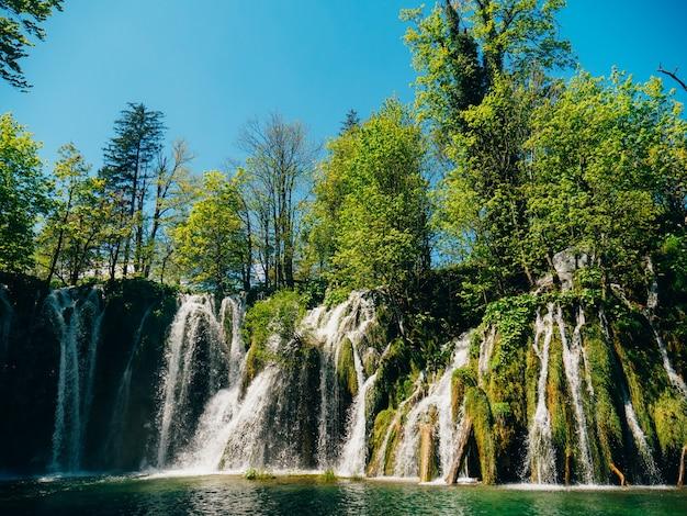 국립 공원 플리트 비체 호수 크로아티아 waterfal 폭포