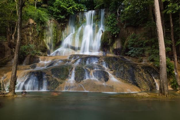 熱帯雨林の滝