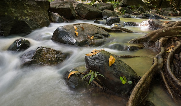 Waterfall landscape tad ton in thailand