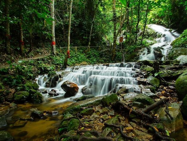 Waterfall in mae kampong, chiangmai, inthailand