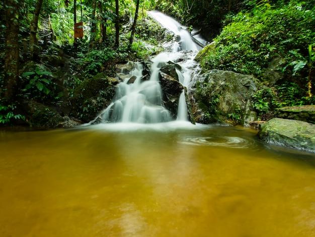 Waterfall in mae kampong, chiangmai, inthailand.