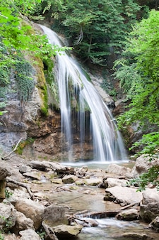 Waterfall in the mountain forest