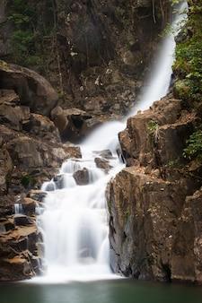 Waterfall in nature on namtok phlio national park, chanthaburi