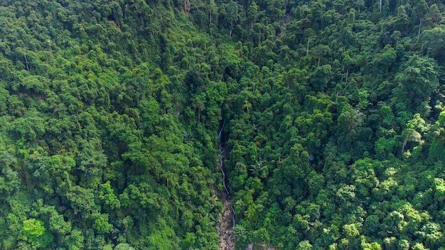 Waterfall in pudeng village aceh besar district aceh province