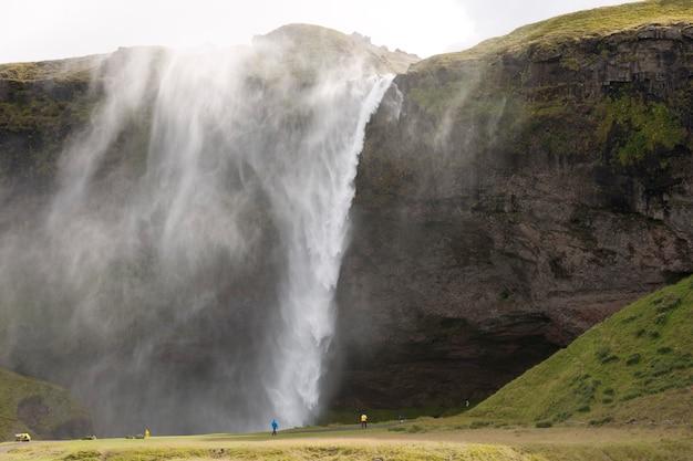 Waterfall at seljalandsfoss iceland