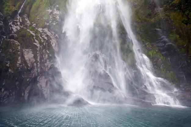 Waterfall splashing