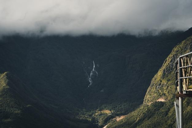 Waterfall at the top of the mountain sa pa vietnam