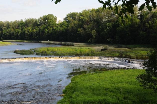Waterfall ventas rumba on the venta river. kuldiga, latvia.