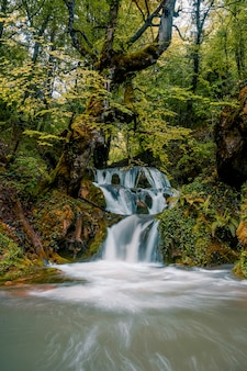 Waterfalls of andoin, alava, basque country