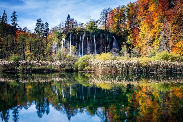 プリトヴィチェ国立公園の滝