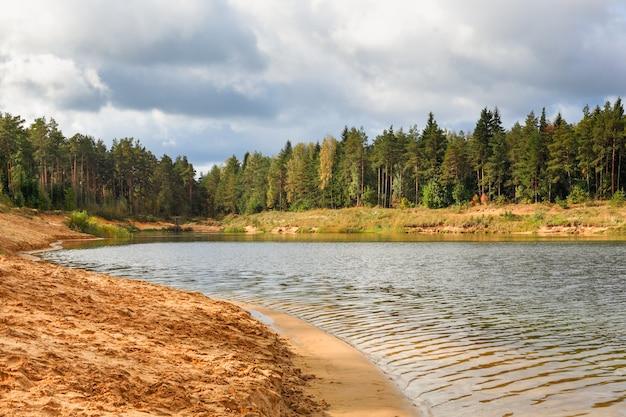 Набережная, пляж, чистый лес, озеро