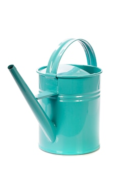 Watering can over white