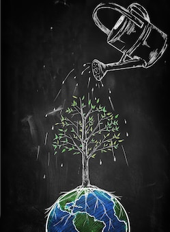 Watering tree of the world