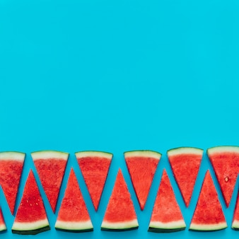 Watermelon background with copyspace on top