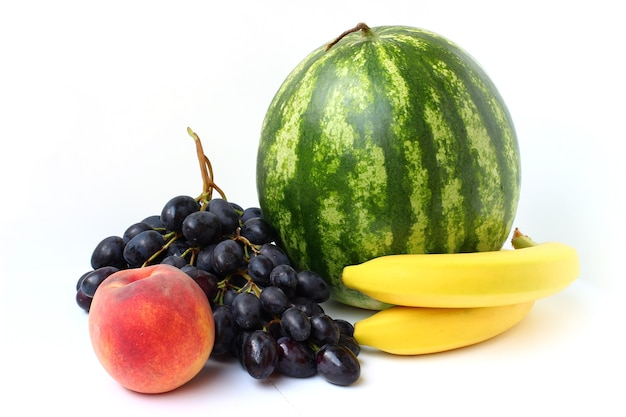 수박, 바나나, 복숭아, 포도 절연
