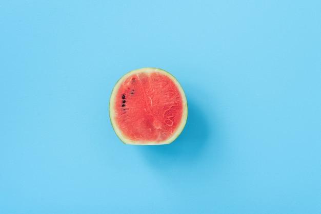 Watermelon on blue