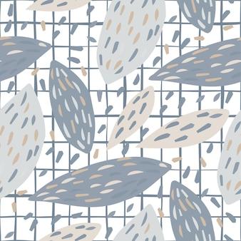스트라이프 배경에 수 박 뼈 완벽 한 패턴입니다. 이국적인 벽지. 자유형 나뭇잎 배경. 직물, 섬유 인쇄용 디자인. 벡터 일러스트 레이 션