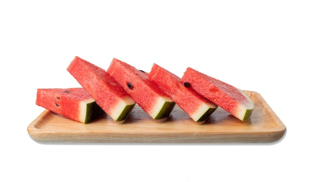 Watermelon cut into pieces