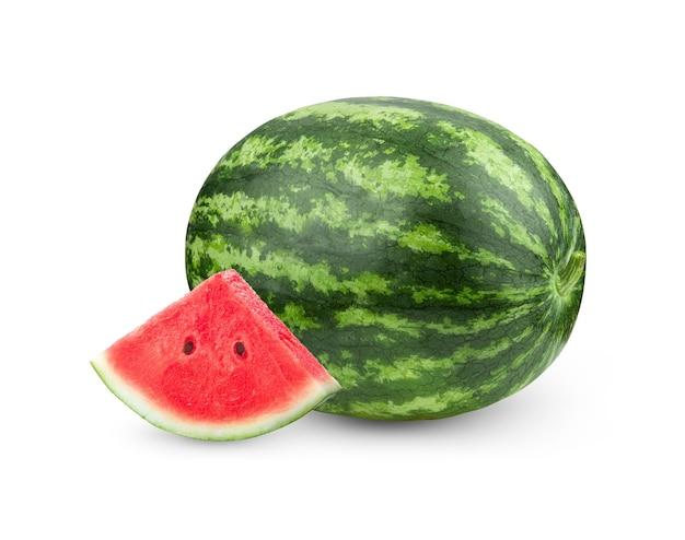 흰색 바탕에 수박 과일