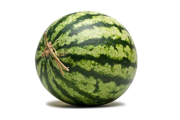Watermelon fruit on white