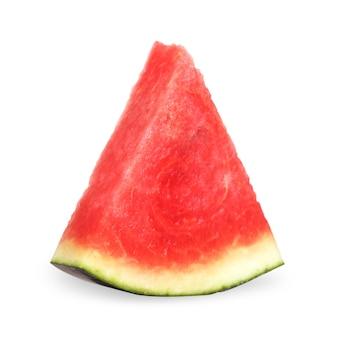 수박 절연입니다. 흰색 배경에 분리된 수박 과일 조각입니다.
