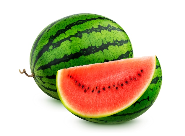 Watermelon isolated on white background with clipping path