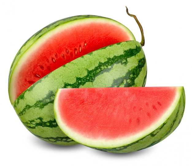 Watermelon isolated on white with clipping path