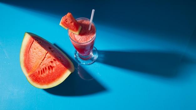 Watermelon juice in glass
