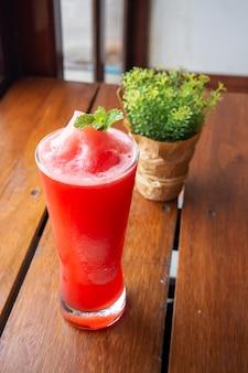 Watermelon juice. refreshment beverage. hight vitamin drink in summer.