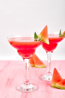 Watermelon margarita cocktail.