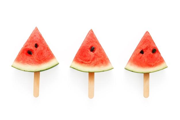Watermelon popsicle yummy fresh summer fruit sweet dessert