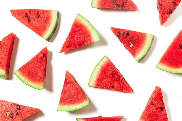 Watermelon slices seamless pattern