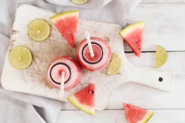 Watermelon smoothie, summer refreshing drink